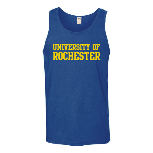 University of Rochester Yellowjackets Basic Block Tank Top - Royal