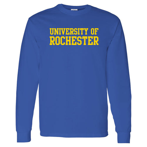 University of Rochester Yellowjackets Basic Block Long Sleeve T-Shirt - Royal