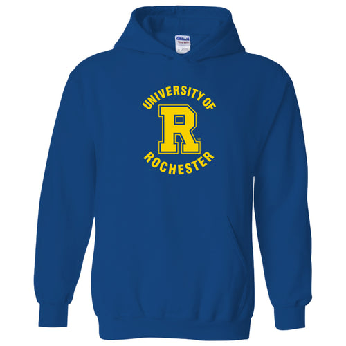 University of Rochester Yellowjackets Arch Logo Heavy Blend Hoodie - Royal