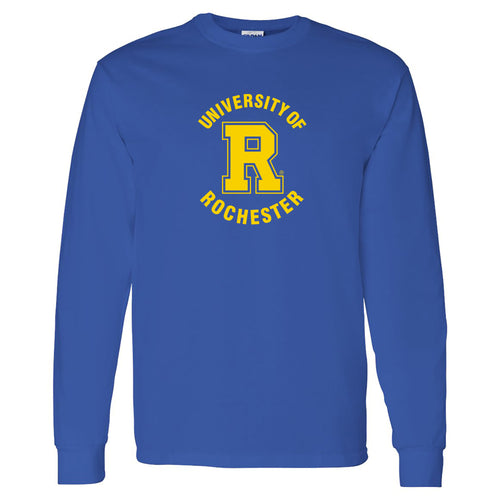 University of Rochester Yellowjackets Arch Logo Long Sleeve T-Shirt - Royal