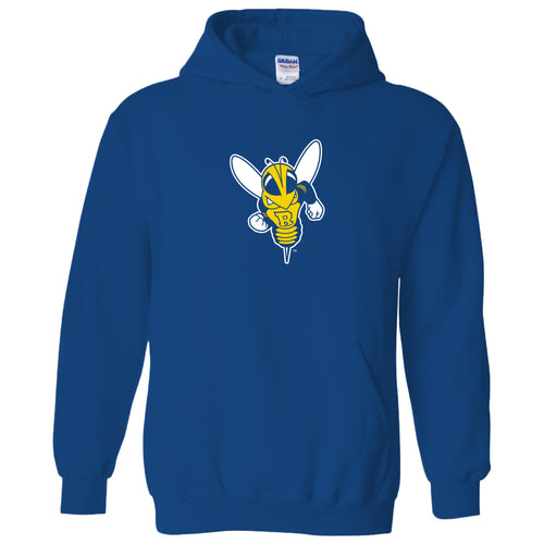 University of Rochester Yellowjackets Primary Logo Heavy Blend Hoodie - Royal