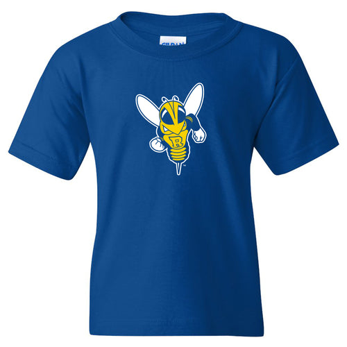 University of Rochester Yellowjackets Primary Logo Youth Short Sleeve T Shirt - Royal