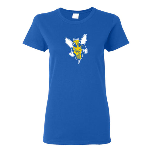 University of Rochester Yellowjackets Primary Logo Womens Short Sleeve T Shirt - Royal