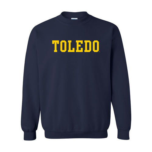 University of Toledo Rockets Basic Block Crewneck Sweatshirt - Navy