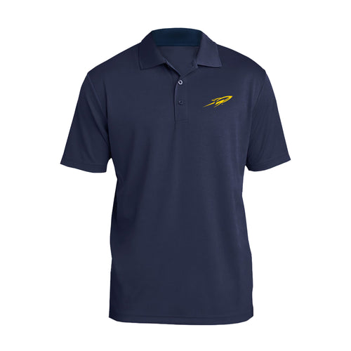 University of Toledo Rockets Primary Logo Left Chest Polo - Navy