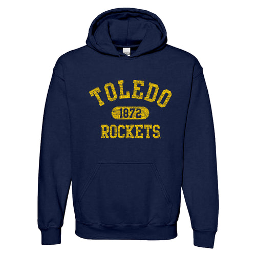 University of Toledo Rockets Athletic Arch Heavy Blend Hoodie - Navy