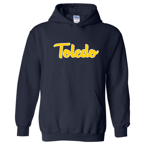 University of Toledo Rockets Basic Script Heavy Blend Hoodie - Navy