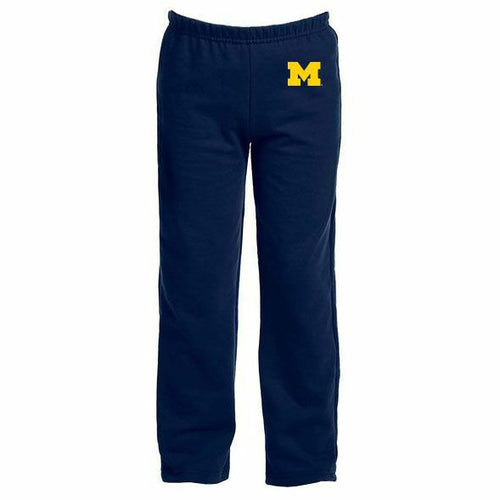 Primary Logo University of Michigan Youth Sweatpants - Navy