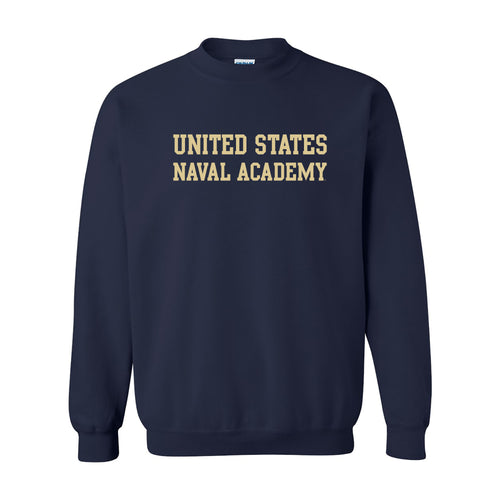 United States Naval Academy Midshipmen Basic Block Heavy Blend Crewneck - Navy