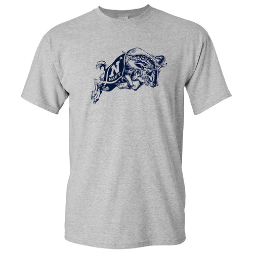 United States Naval Academy Midshipmen Primary Logo Short Sleeve T Shirt - Sport Grey
