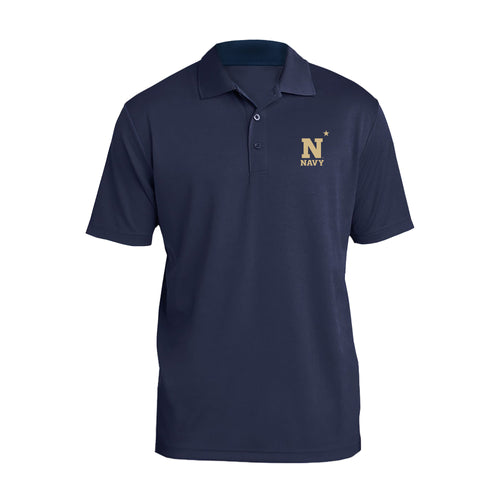 United States Naval Academy Midshipmen Primary Logo Left Chest Polo - Navy