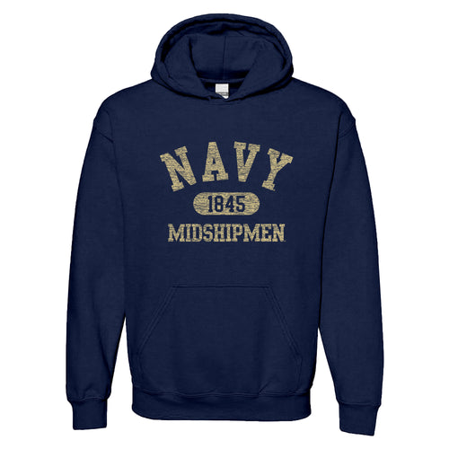 United States Naval Academy Midshipmen Athletic Arch Heavy Blend Hoodie - Navy
