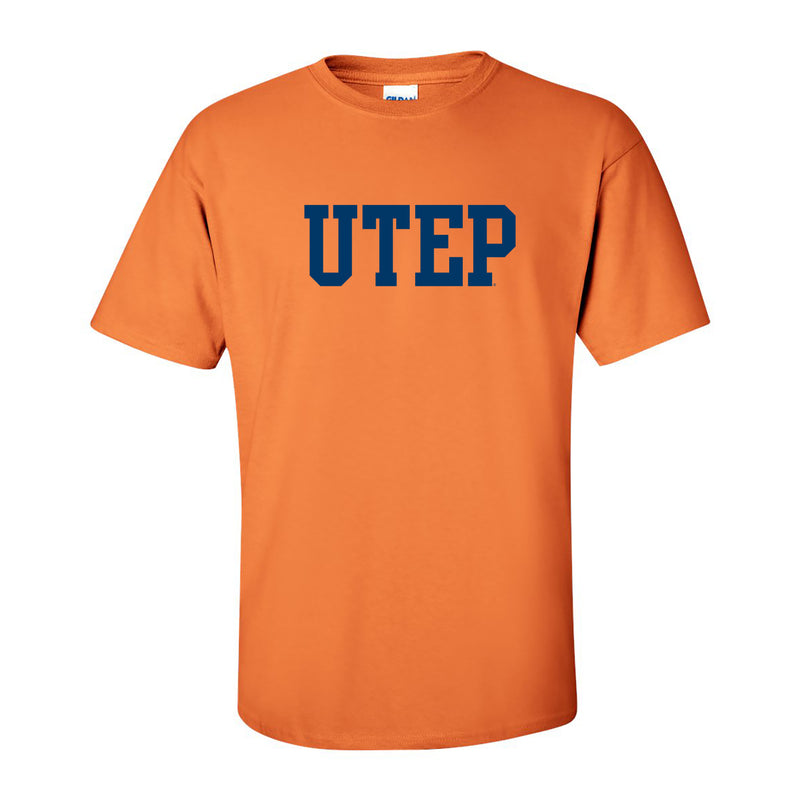 UTEP Basic Block T Shirt - Tangerine