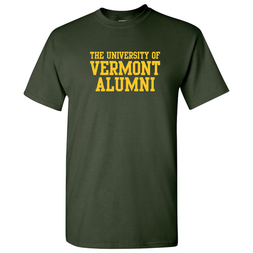 University of Vermont Catamounts Alumni Basic Block T Shirt - Forest