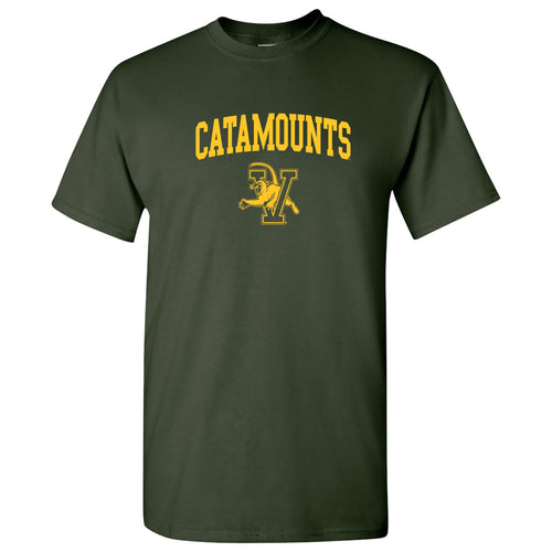 University of Vermont Catamounts Arch Logo Short Sleeve T Shirt - Forest