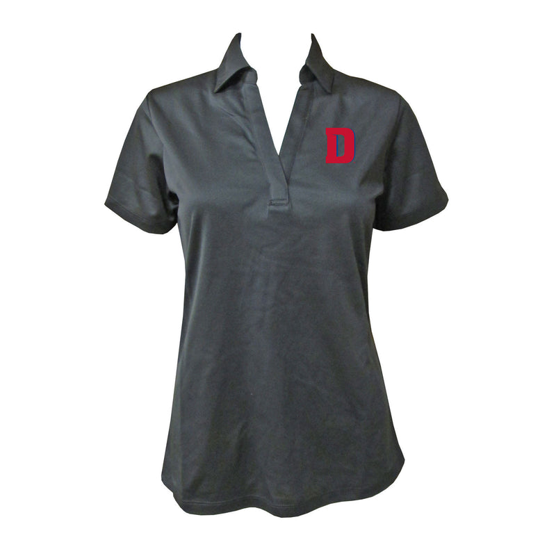 University of Detroit Mercy UDM Ladies Polo - Black