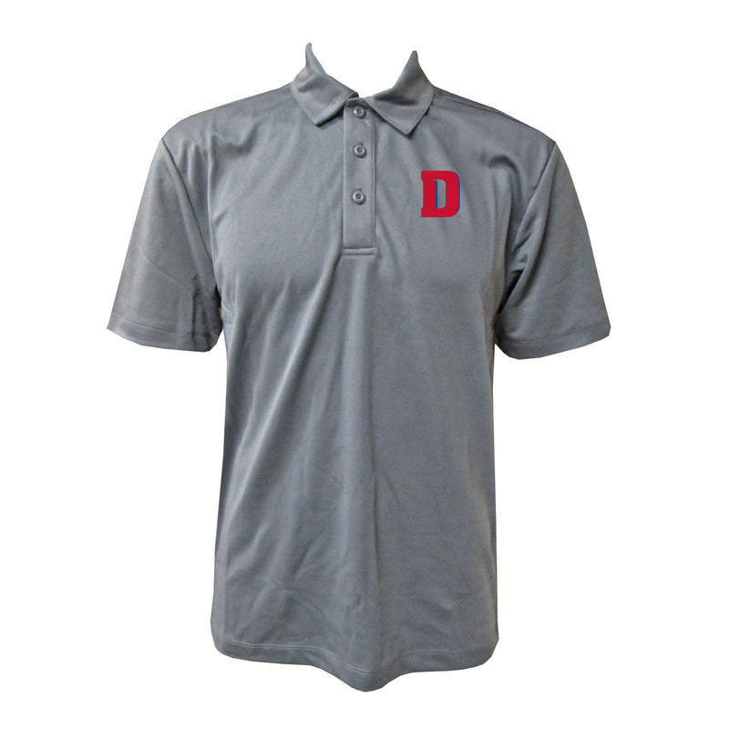 University of Detroit Mercy Titans Block D Polo - Steel Grey