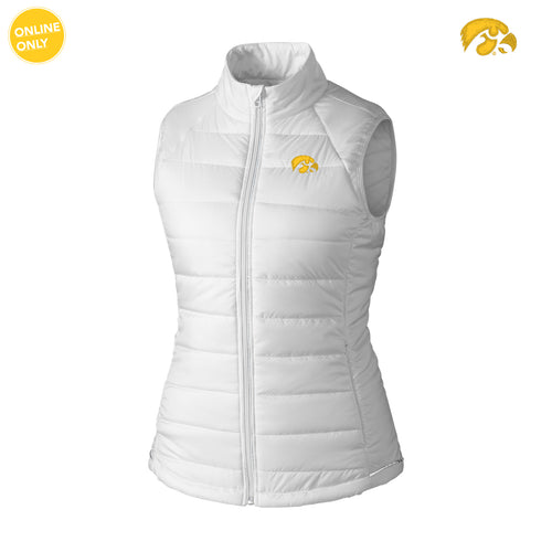 University of Iowa Hawkeye Logo Cutter & Buck Women's Post Alley Vest - White