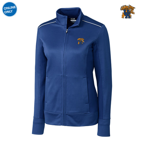 UK Cutter & Buck Ladies Ridge Full Zip - Tour Blue