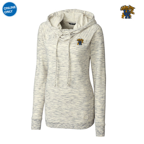 UK Cutter & Buck Women's Long Sleeve Tie Breaker Hoodie - Snow White