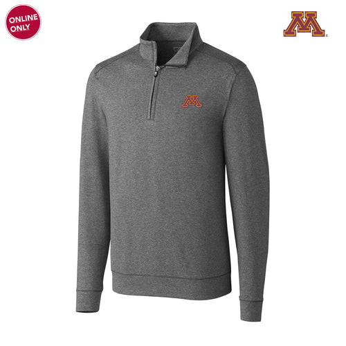 Minnesota Cutter & Buck Big & Tall Shoreline Half Zip - Charcoal Heather