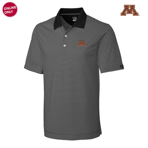 Minnesota Cutter & Buck Trevor Stripe Polo - Black/Oxide