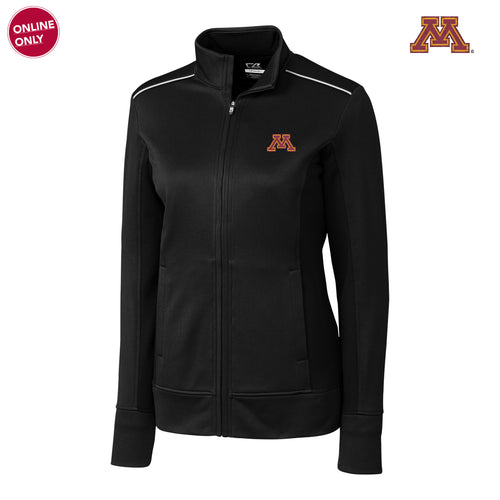 Minnesota Cutter & Buck Ladies Ridge Full Zip - Black