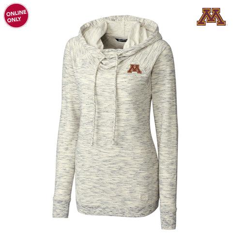 Minnesota Cutter & Buck Women's Long Sleeve Tie Breaker Hoodie - Snow White
