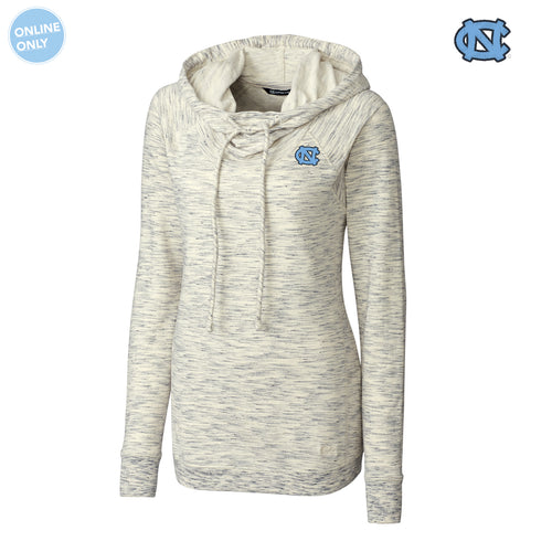UNC Cutter & Buck Women's Long Sleeve Tie Breaker Hoodie - Snow White