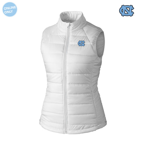 UNC Cutter & Buck Women's Post Alley Vest - White