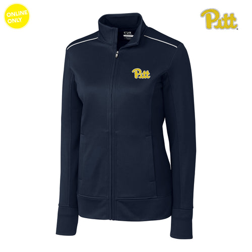 Pittsburgh Cutter & Buck Ladies Ridge Full Zip - Navy Blue