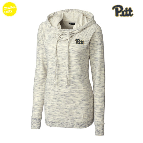 Pittsburgh Cutter & Buck Women's Long Sleeve Tie Breaker Hoodie - Snow White