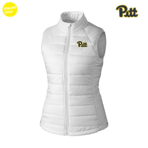 PIttsburgh Cutter & Buck Women's Post Alley Vest - White