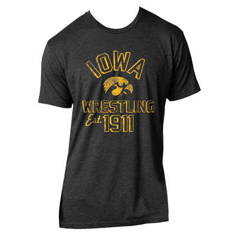 Iowa Wrestling Est. 1911 - Vintage Black