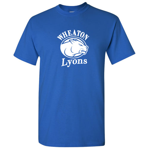 Wheaton College Lyons Primary Logo Short Sleeve T Shirt - Royal