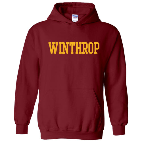 Winthrop University Eagles Basic Block Hoodie - Garnet