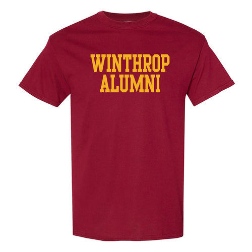 Winthrop University Eagles Alumni Basic Block Short Sleeve T Shirt - Garnet