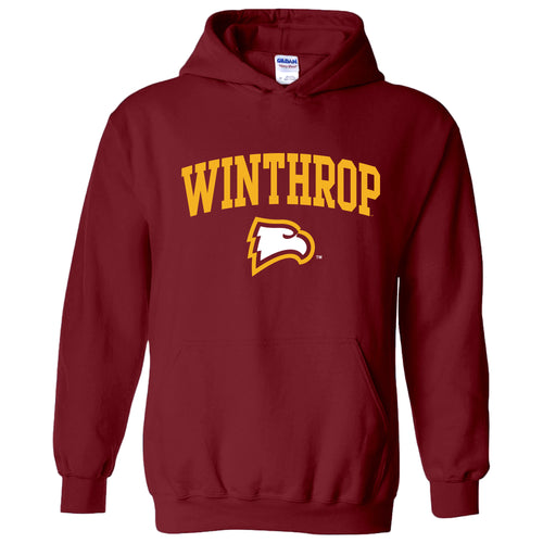 Winthrop University Eagles Arch Logo Hoodie - Garnet