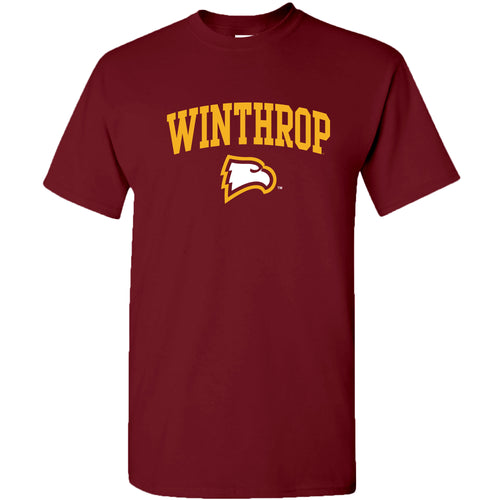 Winthrop University Eagles Arch Logo Short Sleeve T Shirt - Garnet