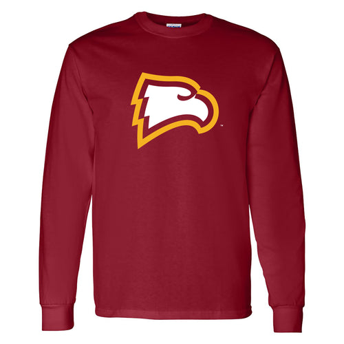 Winthrop University Eagles Primary Logo Long Sleeve T Shirt - Garnet