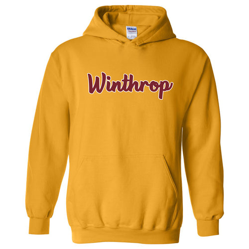 Winthrop University Eagles Basic Script Hoodie - Gold