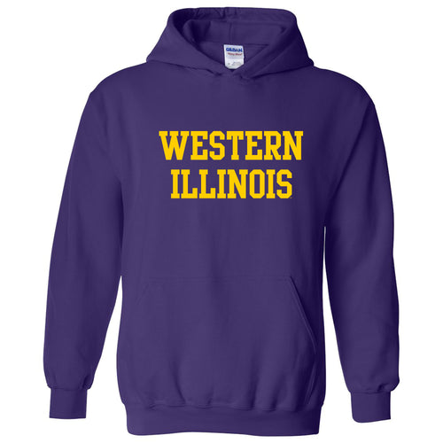 Western Illinois University Leathernecks Basic Block Hoodie - Purple