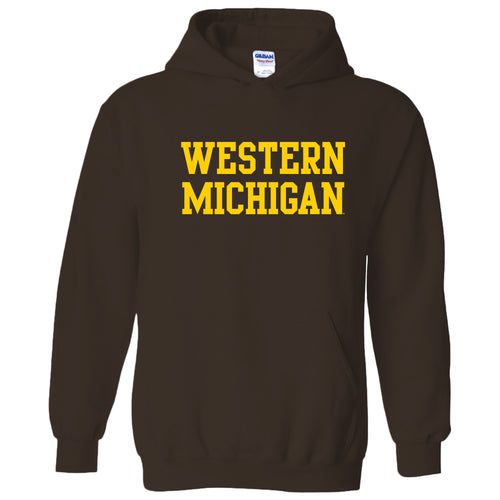 Western Michigan Basic Hood - Dark Chocolate