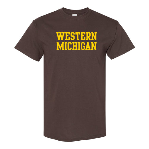 Western Michigan Basic Tee - Dark Chocolate