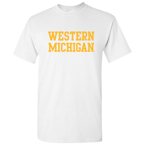 Western Michigan Basic Tee - White