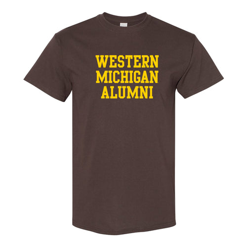 Western Michigan Alumni Block T Shirt - Dark Chocolate
