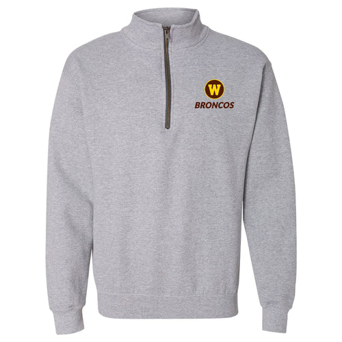 Western Michigan Primary Logo LC QZip - Sport Grey