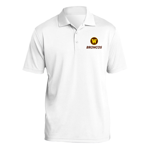 Western Michigan Primary Logo LC Polo - White