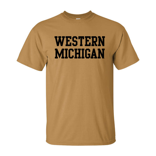 Western Michigan Basic Tee - Old Gold