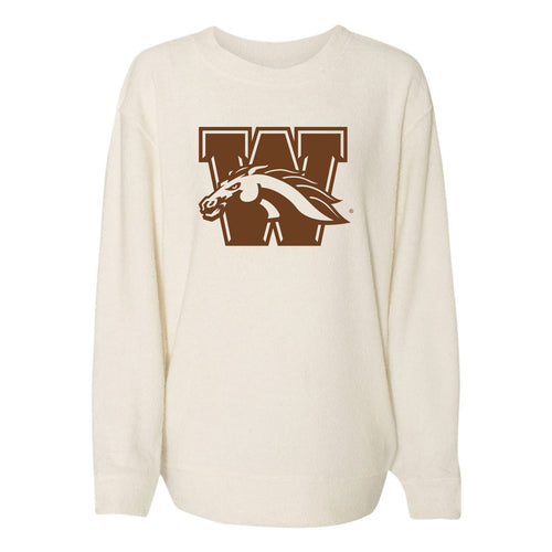 Western Michigan University Broncos Primary Logo Cozy Crew - Oatmeal